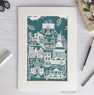 Leiden personalised papercut