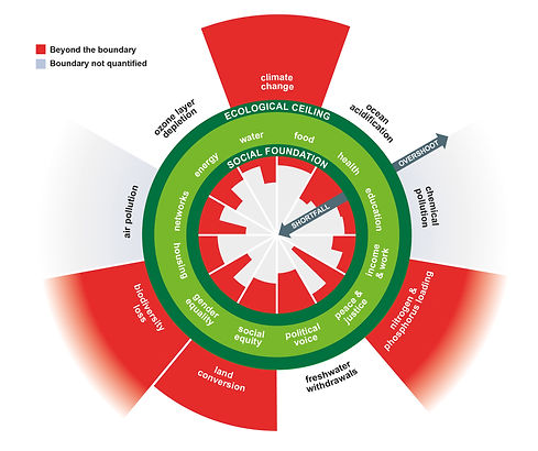 The Doughnut of social and planetary bou