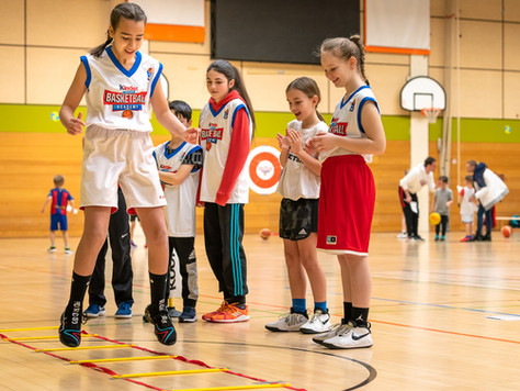 "XCYDE Angels holten ""kinder+Sport Basketball Academy"""