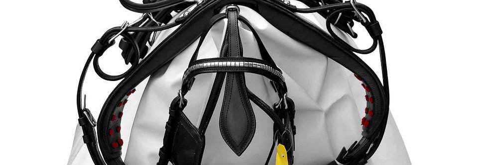HORSE LEATHER HARNESS BLACK COLOR, BRASS FITTING