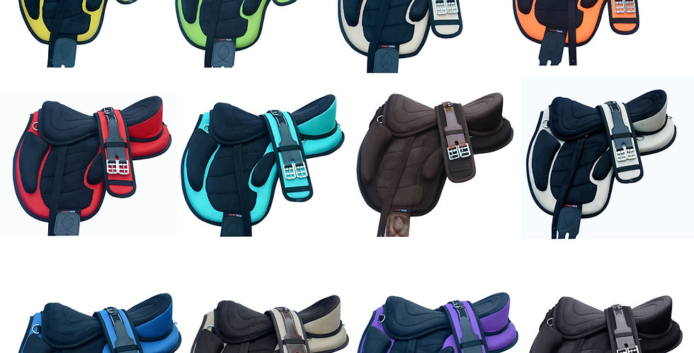 """All Purpose Treeless Horse Saddle Size Fit to (16""""-18"""") + free Girth"""
