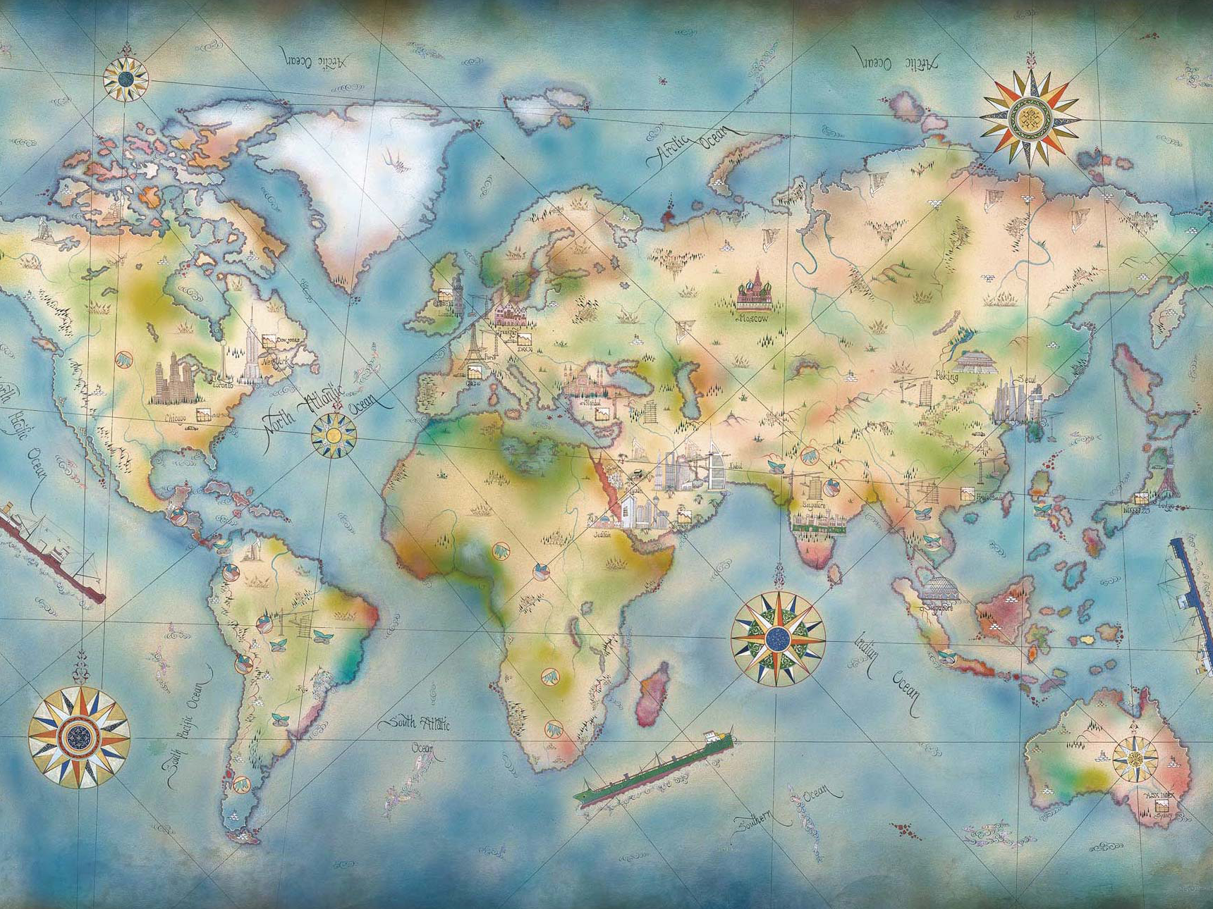 Theme : world map