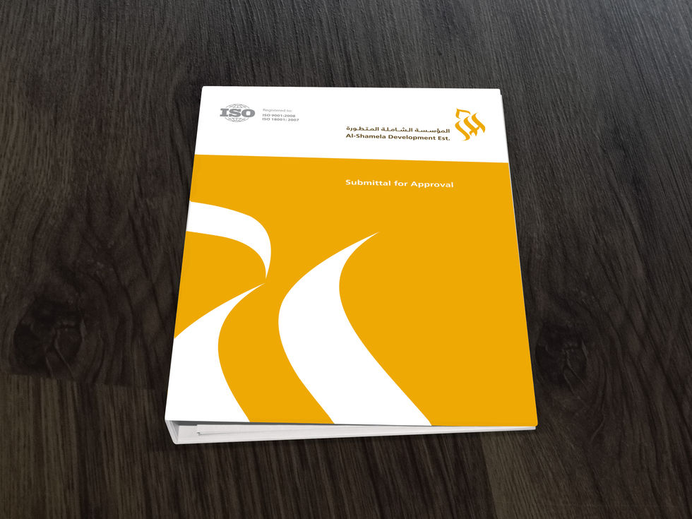 Submittal folder - front cover