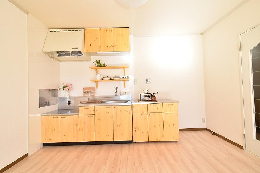 おしゃれなカフェのようなキッチンがあるのは、グレイスロイヤルだけ。