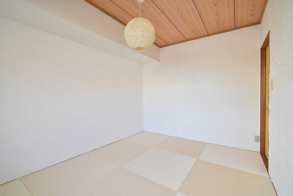 市松模様が美しい琉球畳