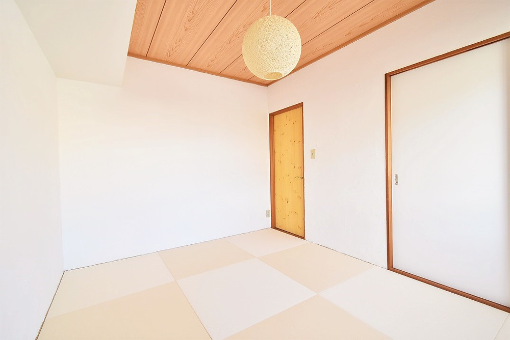 おしゃれな琉球畳を敷いた和室はとてもおしゃれ