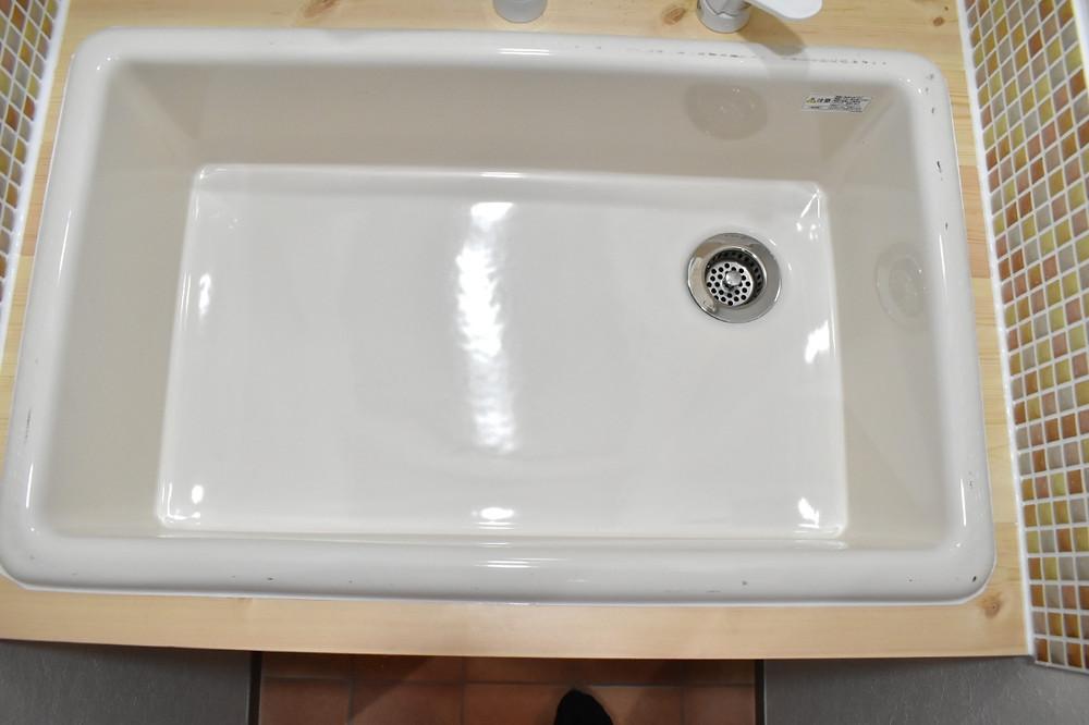 カフェ風の戸建て住宅を建てる方の洗面台には、必ずこの洗面ボウルは使われています。