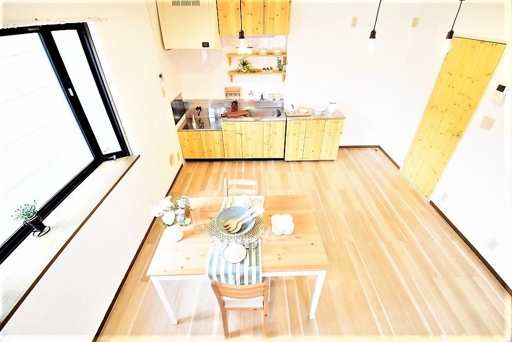 家具などを配置することで、生活のイメージがしやすくなります。