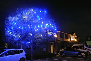 LEDイルミネーションは、アパートの景観をよくするばかりではなく、防犯面においても有効的