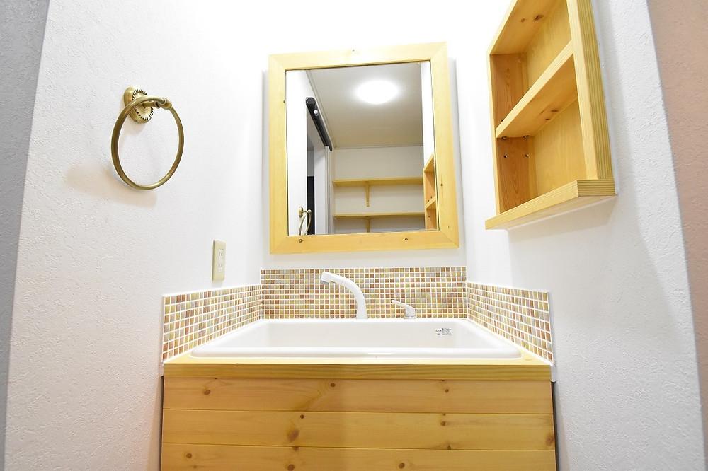 世界に一つだけのオリジナル洗面台。