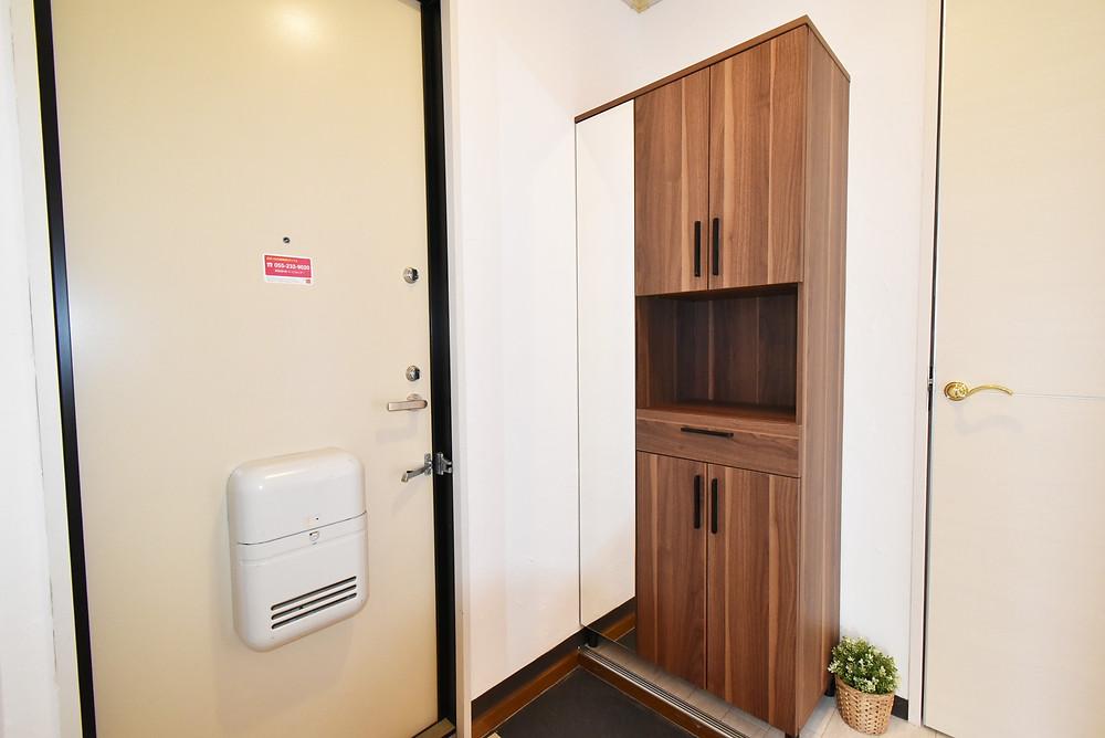 約26足収納できる靴箱。玄関周りがすっきりしますね。