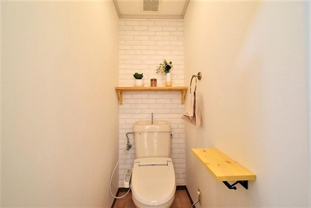 カフェのトイレをそのまま再現しています