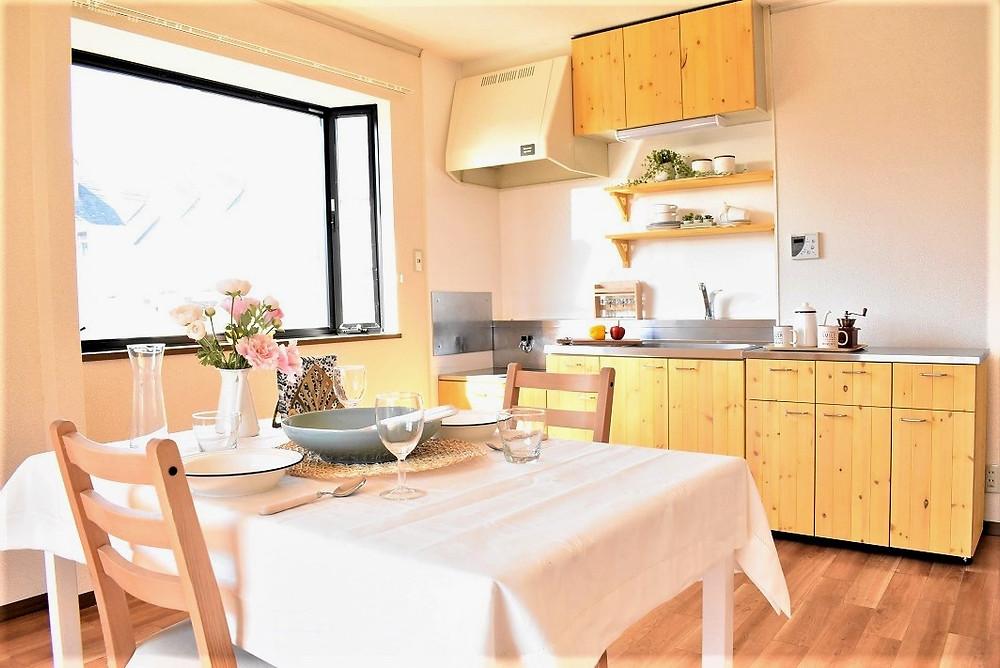 おうち時間が楽しめるおしゃれなキッチンが標準装備。グレイスロイヤルM105