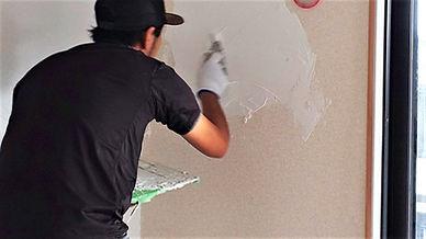 漆喰施工の様子