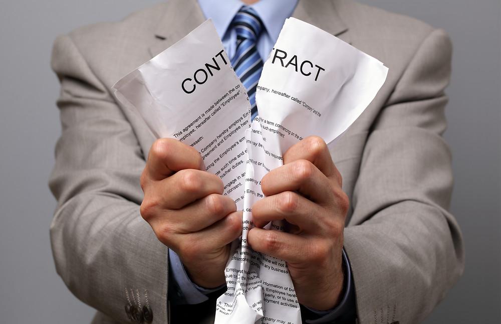 何度注意しても改善がみられない場合には、契約破棄もあり得ます