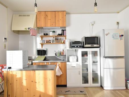 賃貸キッチンの収納お悩み。山梨おしゃれ賃貸・グレイスロイヤルならそのお悩み全て解決します。