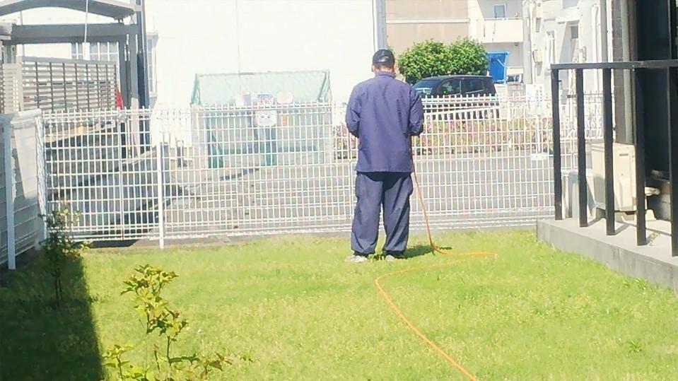造園業者さんからは、芝の管理がよくされているとほめられました。