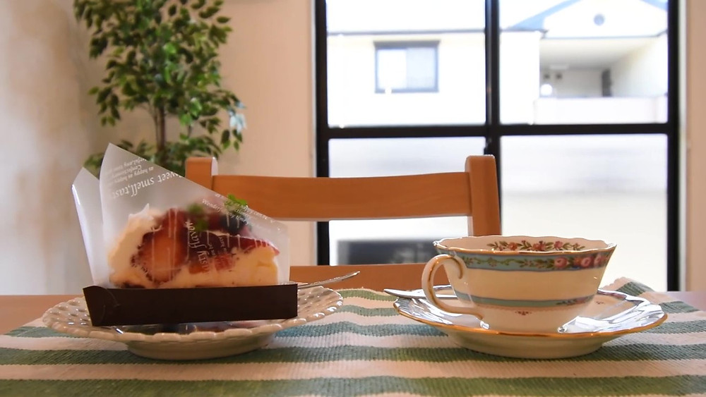 ケーキさえ買ってきてもらえれば、いつでも簡単におうちカフェを楽しめます
