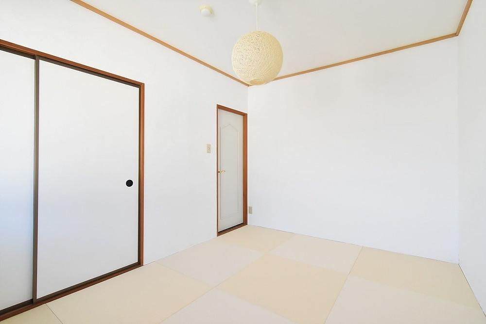 おしゃれでモダンな琉球畳がある和室部屋