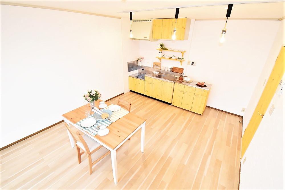 内装・設備面において、ナチュラル系の素材を使っているので、お部屋空間がとても魅力的になります。