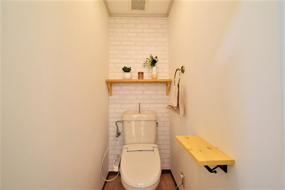 カフェの様なおしゃれなトイレが標準装備
