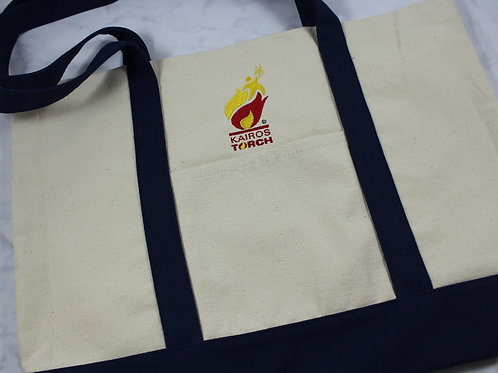 Licensed Kairos Torch 100% Cotton Canvas Tote Bag