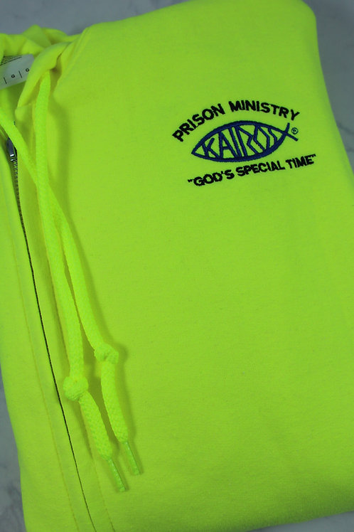 Licensed Kairos Prison Ministry Adult Full Zip Hooded Sweatshirt