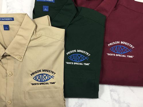 Licensed Kairos Logo Long Sleeve Carefree Poplin Shirt