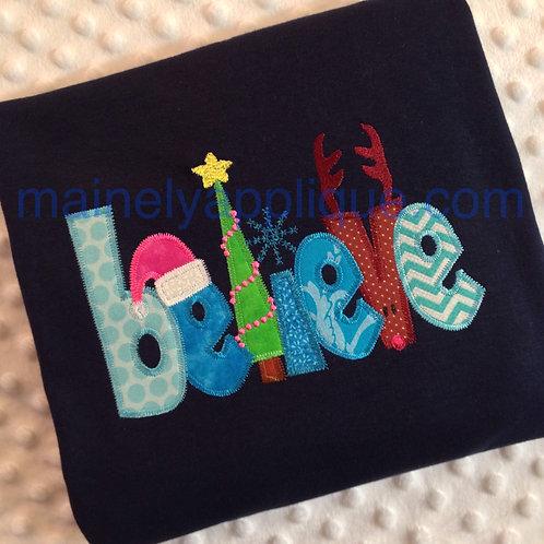 Whimsical Believe Christmas T-shirt