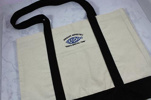 Licensed Kairos Logo 100% Cotton Canvas Tote Bag