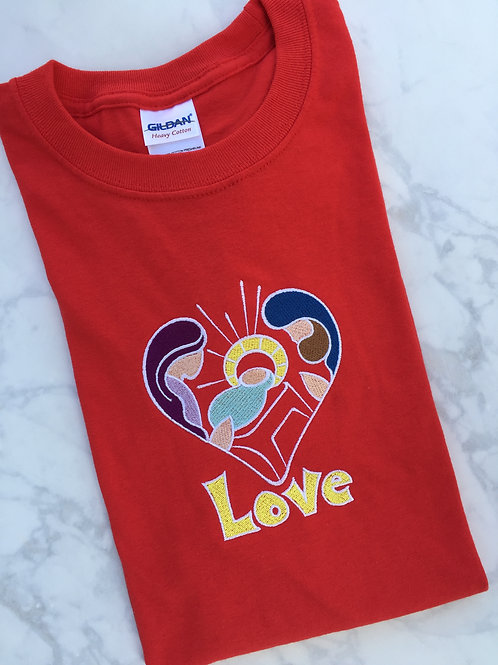Holy Family Love Christmas T-shirt