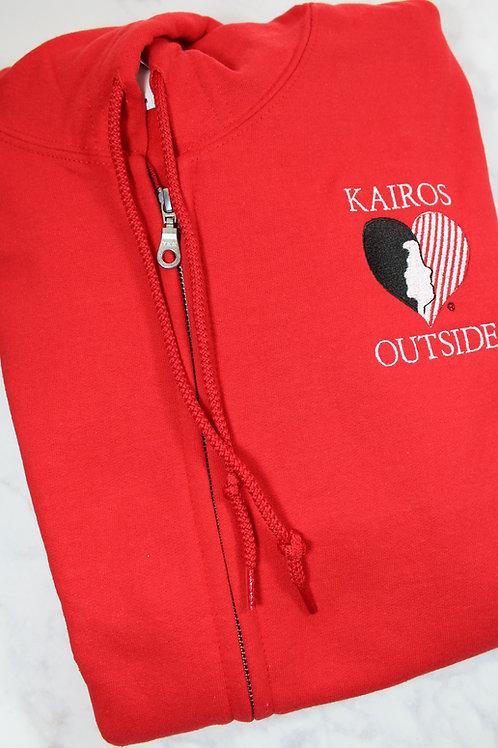 Licensed Kairos Outside Adult Full Zip Hooded Sweatshirt