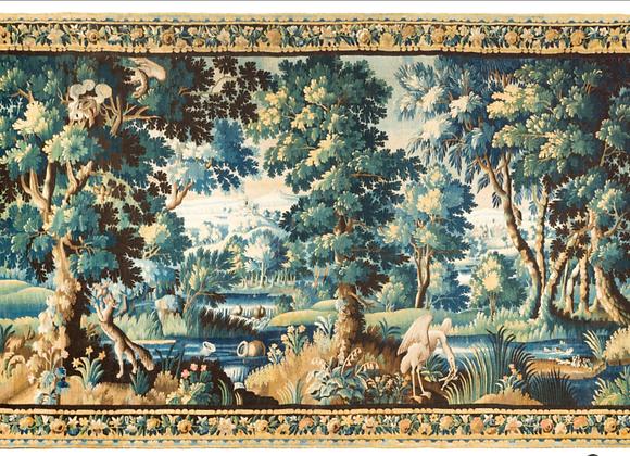 Grande tapisserie d'aubusson , 17ème siècle