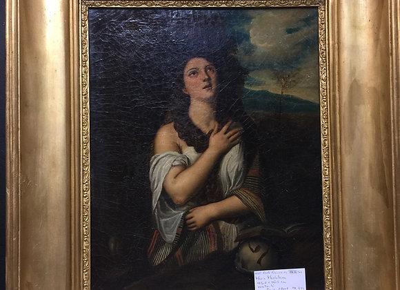 Huile sur toile 18ème siècle .