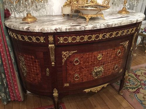Commode en bois d'acajou 19ème siècle