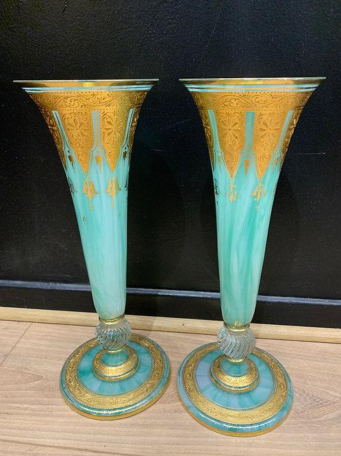 Paire de vases en cristal