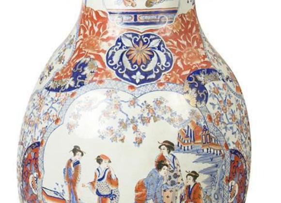 Un grand vase en porcelaine d'Imari