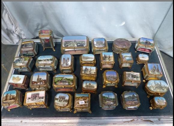 Collection de  boîtes de fiançailles , 19ème siècle