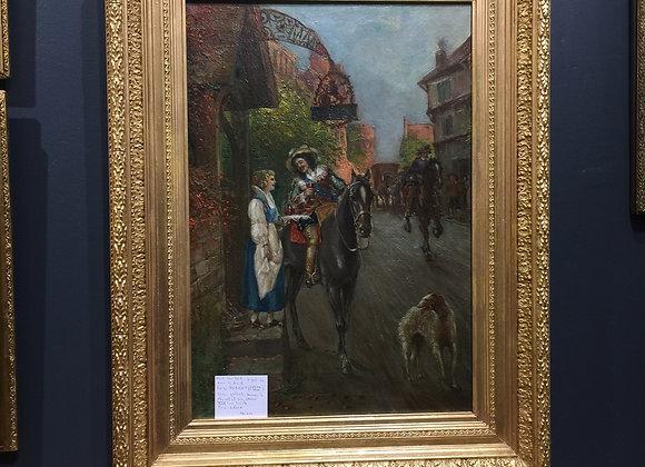 Huile sur toile 19ème siècle , signé Luigi Morreti