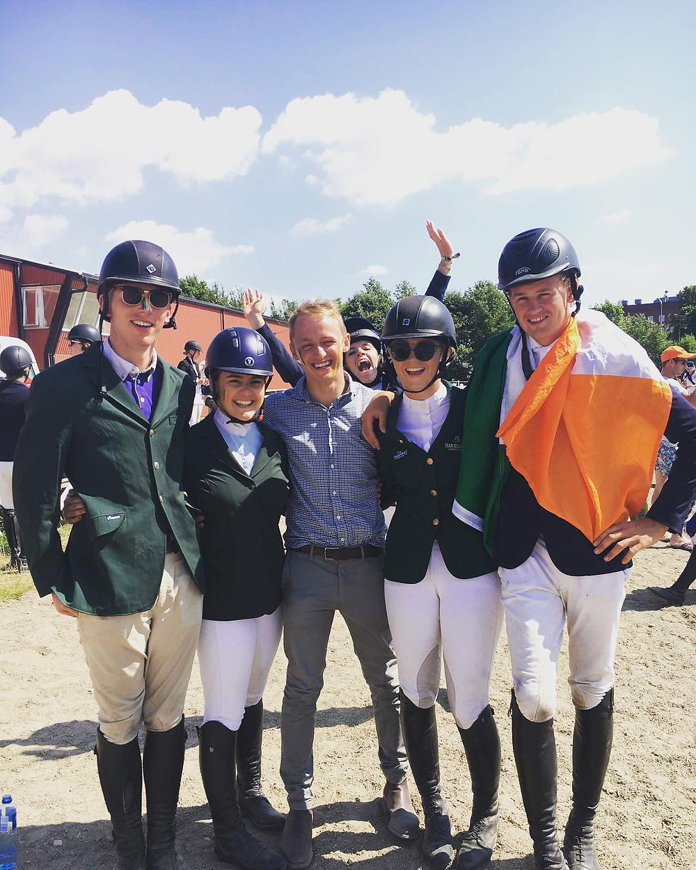 Irish Student Riders Tommy Harty, Anastasia Ripolin, Kelley Hutchinson and Donal Hayes