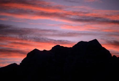 Concarena, tramonto invernale