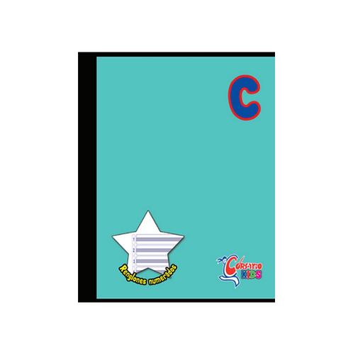 Cuaderno Cosido Corsario Kids sencillo, 200 páginas- Tipo C