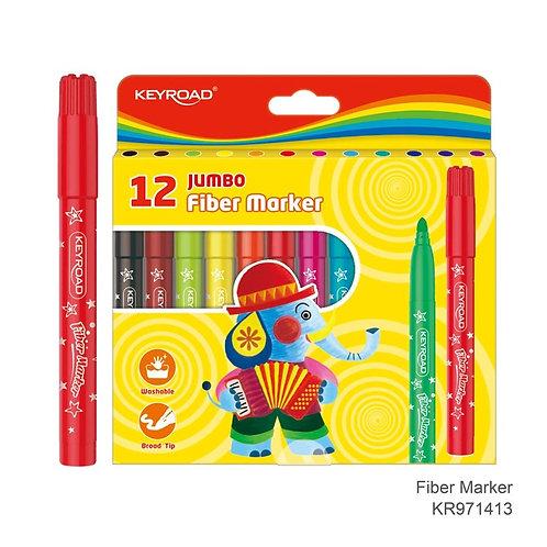 Marcadores escolares Jumbo, Caja de 12 colores