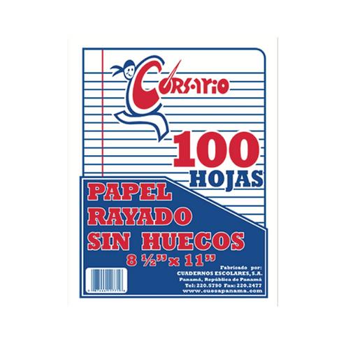 Bond Rayado sin Huecos - 100 hojas