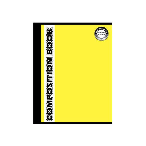 Cuaderno Cosido Grande Composition Raya Ancha, 160 páginas