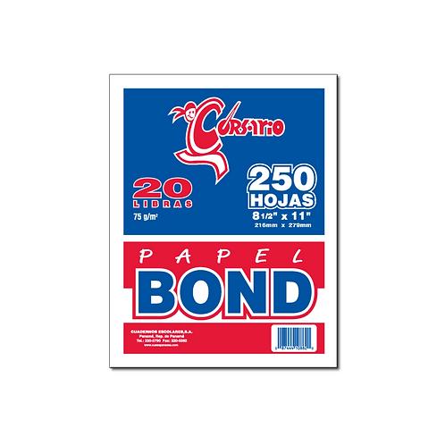 Bond Blanco 20 lb - 250 hojas