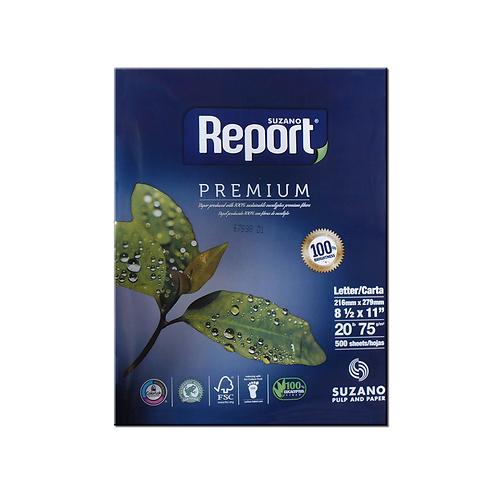 """Papel Multifuncional 20lb Report 8.5 x 11"""" (Carta)"""