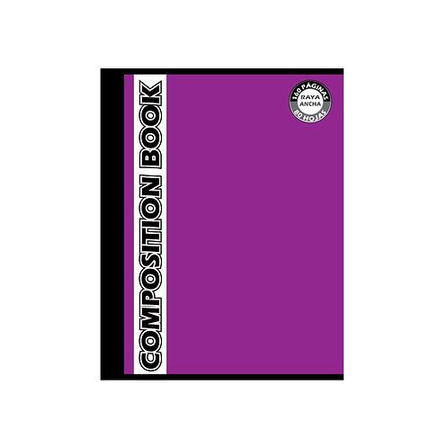 Cuaderno Cosido Grande Composition Doble Raya, 160 páginas