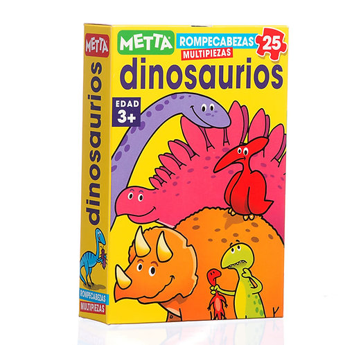 """Los Dinosaurios- Rompecabeza de 25 piezas - Tamaño 8.5"""" x 11"""""""