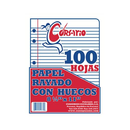 Bond Rayado con Huecos - 100 hojas